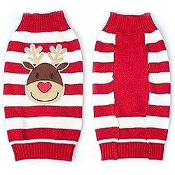 THEE Ropa para Mascotas Navidad Disfraz de Punto de Perro o Gato Fiesta Traje