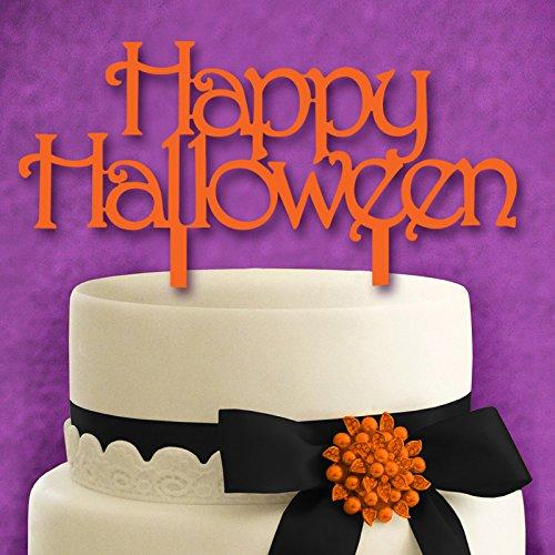 FairOnly Happy Halloween Kreative Monogramm Kuchen-Dekoration für Halloween, Party, Kuchendekoration, Orange