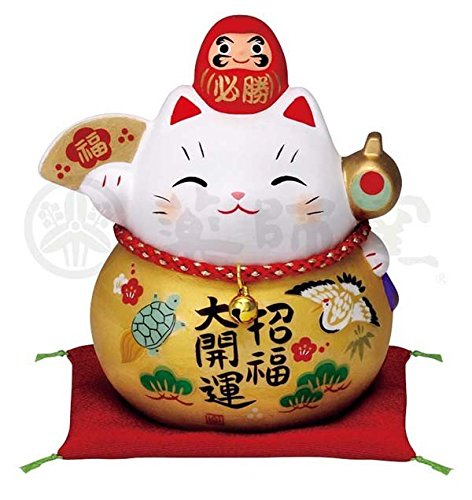 Matsumoto-Toki Fortune Accueillant Cat poterie Intérieur doré Cat Daruma 7690 Taille : M à partir du Japon