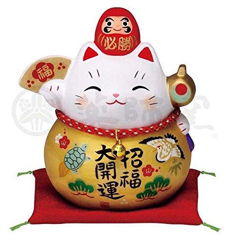 Matsumoto-Toki 7690 Glückskatze Pottery Innenausstattung Gold Cat Daruma Größe M aus Japan