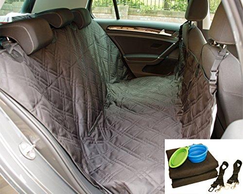 Dog Car Seat Cover Set, Waterproof, Non-Slip Hammock with Storage Pocket, 2 x Bowls, 2 x Pet Seat Belts, Adjustable… 1