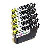 5x Epson Workforce WF 2540 WF kompatible XL Druckerpatronen - Schwarz - Patrone MIT CHIP !!!