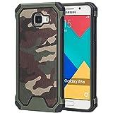MOONCASE Galaxy A5 2016 Coque, Camouflage 2 en 1 Combo Housse Hybride Etui Robuste Protection de Dual Layer Antidérapant en TPU Gel Avec Absorption de Chocs Case pour Samsung Galaxy A5 (2016) A510F Vert