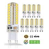 G9 LED Lampe Liqoo 5W 10 Stück Warmweiß Birnen Energiesparlampen Ersetzt 40W Halogenlampe Abstrahlwinkel 360º Nicht Dimmbar 450 Lumen AC220-240V