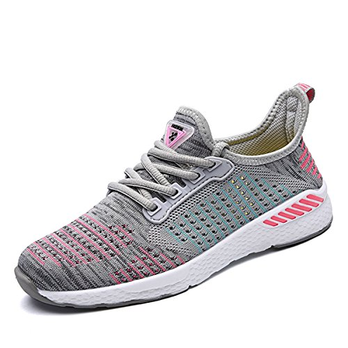 unisex Sportschuhe Atmungsaktives Mesh Wander Belüftung Trekking Wanderhalbschuhe Sneakers Outdoorschuhe Casual Schuhe Sommerschuhe, 39 EU, Farbe: Grau (Mesh-schuhe Grau)