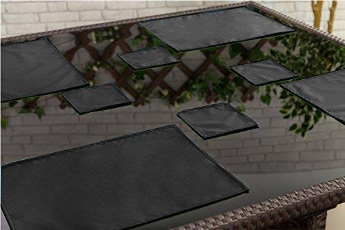 Schwarze Outdoor-esstisch (gardenista Outdoor Esstisch wasserabweisend Untersetzer Geschirr, 8Stück schwarz)