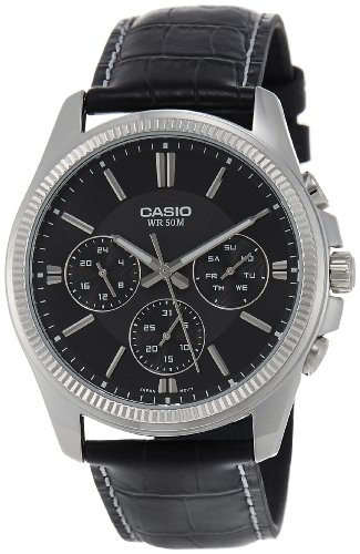 Casio Enticer Black Dial Men's Watch - MTP-1375L-1AVDF (A838)