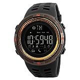 NICERIO SKMEI 1250 Smart Watch Podomètre Calories Horloges Étanche Numérique Montres Montres Sports de Plein Air (Golden)