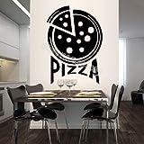 Dünne untere italienische Pizza Wall Decal Pizzeria Essen Schild Kunst Wandaufkleber Home Decor Restaurant Küche wasserdicht E 56x78cm