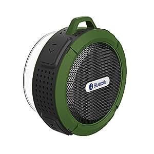 Patuoxun Altoparlante Bluetooth Wireless Portatile Speaker Doccia Vivavoce con Microfono, con Pulsanti di Controllo e Ventosa Rimovibile, per Doccia Bagno Piscina Barca Auto Spiaggia Outdoor, per iphone 7 7 plus 6s 6 Plus 5s 5c 5se, Samsung Galaxy S6 Edge S5 Note 5 4 3, Huawei P9 HTC, Mp3 Player- Verde