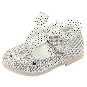 For 1-3 Years old Girls ,Clode® Baby Girl Lace Up PU Leater Diamonds Dancing Shoes Sneaker Anti-slip Hard Sole Shoes