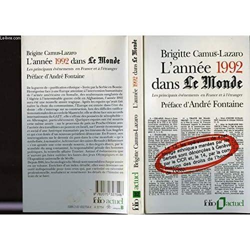 L'année 1992 dans 'Le Monde' : les principaux évènements en France et à l'étranger