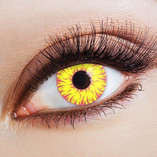 Manga & Anime Kontaktlinse Sunbeams by aricona – Deckende, farbige Jahreslinsen für dunkle und helle Augenfarben ohne Stärke, Farblinsen für Cosplay, Karneval, Fasching, Halloween ()