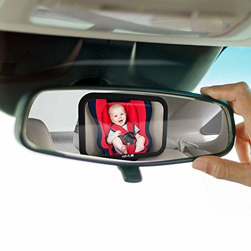 Miroir si ge arri re de b b r troviseur incassable de for Miroir pour voiture
