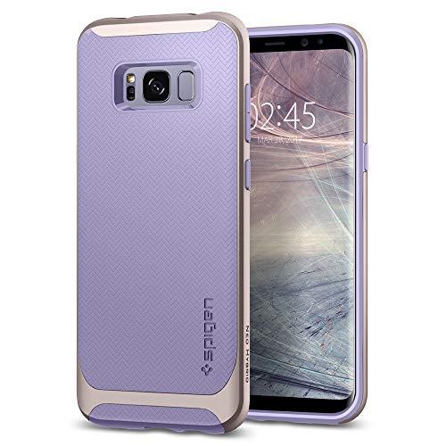 Spigen 565CS21596 Neo Hybrid für Samsung Galaxy S8 Hülle, Zweiteilige Handyhülle Modische Muster Silikon und PC Rahmen Schutzhülle Case Violet