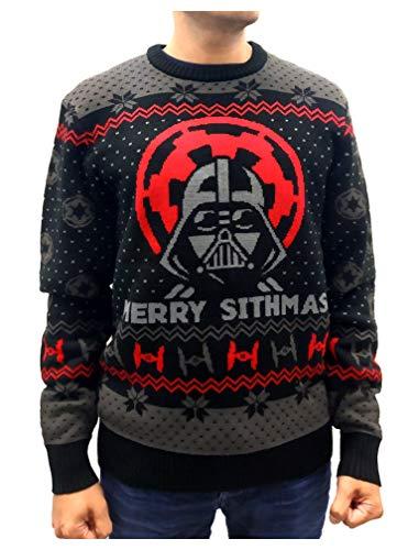 maglione di natale star wars uomo donna darth vader merry sithmas sweater medium