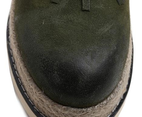Laruise , Sandales Plateforme femme Vert