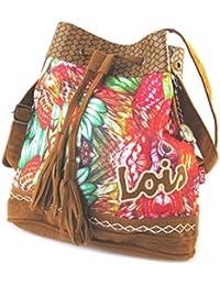 Bolsa de lona 'Lois Jean'marrón multicolor - 28.5x25x12 cm.