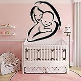 TYLPK Adesivi murali mamma e bambino Decorazioni decorative per camera di maternità Baby room Adesivi murali in vinile autoadesivi impermeabili rosa 30X36 cm