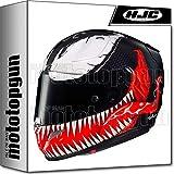 MOTOTOPGUN HJC MOTORRAD INTEGRALHELME RPHA 11 VENOM MARVEL MC1 L