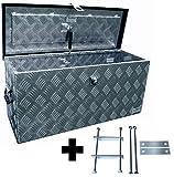 Truckbox D080 + MON2012 Werkzeugkasten, Deichselbox, Transportbox, Alubox, Alukoffer