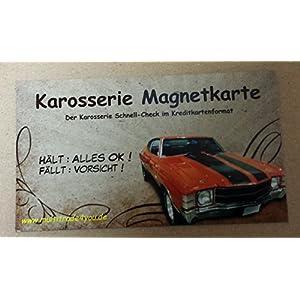 Grip Magnetkarte, Karosserie Karte, Magnet, Unfall, Spachtel, Lack, Prüfer,Check, hält er oder fällt er?