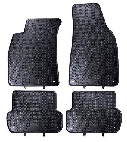 en Gummi Fußmatten Komplettset Schwarz perfekt passend mit Rand 1103557 ()