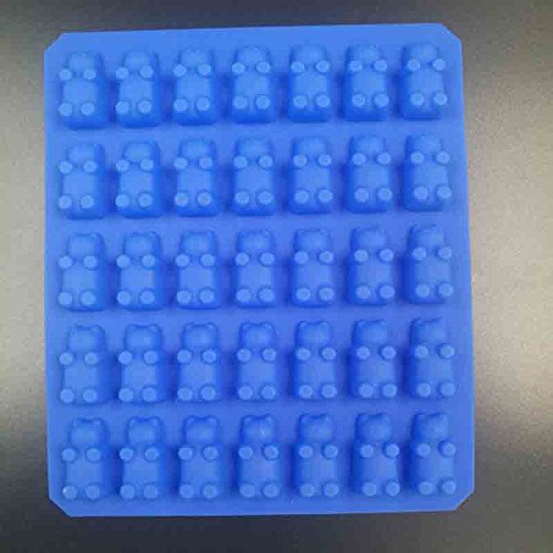 KHKJ DIY 2017 Kitchen Mold Silicone Gummy Bear Molds for Chocolate Candy Molds and Ice Trays Decorating Baking Tool (Mold Bear Tray Gummy)
