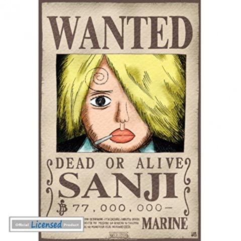 Posters: One Piece Mini Poster - Wanted Sanji (52 x 35 cm)