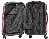 Packenger One World by Della 3er-Koffer, Trolley, Hartschale set in Pink, Größe M, L und XL - 4