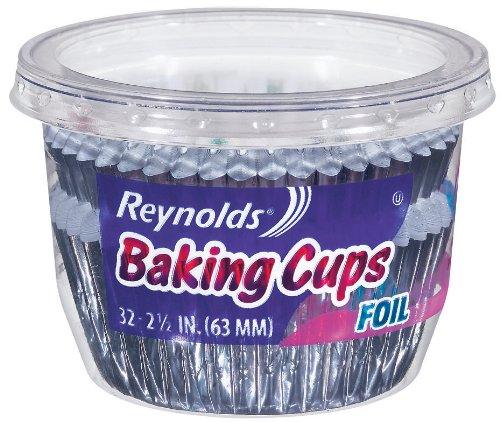 Reynolds Baking Cups-Foil, 32 Count (Pack of 24) by Reynolds Reynolds Baking Cups