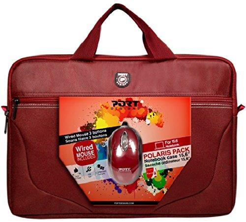 Preisvergleich Produktbild 'Port Designs 50177015.6Aktenkoffer Rot Notebooktasche–Tasche (, Rot, Einfarbig, Staubresistent, Kratzresistent, Schockresistent, spritzwassergeschützt)