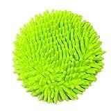 Meiwash 360 Degree Wet Mop, Microfibra Chenille Flexible Handle Car Clean Wash Mop Plus Cabezal de toalla (Testa verde)