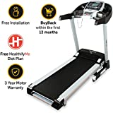 Lifelong FitPro LLTM36 Motorised Treadmill (3.0 HP Peak) with Auto Incline and Auto Lubrication, Speakers, Diet Plan, Android & IOS App, Max Speed 14km/hr (Free Installation)