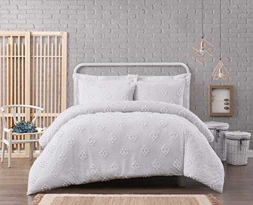 Cottage Classics French Country Cotton Comforter Set Twin XL, White - Cottage Bed-twin Bed