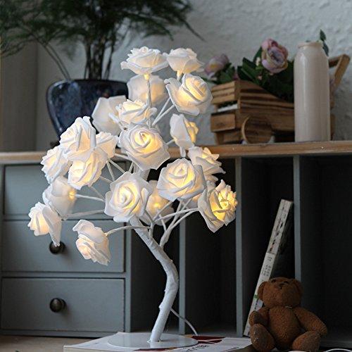 LED Simulation De Roses Lampe De Chevet Chambre à Coucher Lampe De Table Décorative