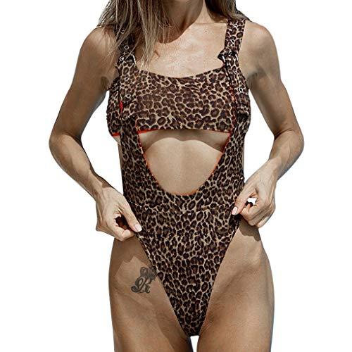 Damen Bikini Leopard Beachwear Monokini Sommer Badeanzug Bikini Exquisite Bademode Einteiliger Badeanzug Solid Set Badeanzug Mode Badebekleidung