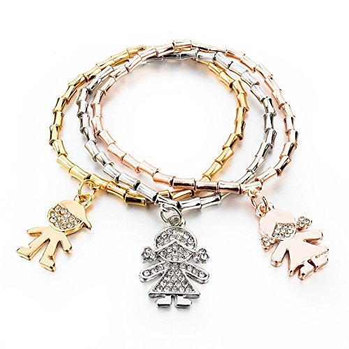 Hot And Bold Multilayer Stylish Charms Bracelet For Girls & Women. Daily Wear & Party Wear Fashion Jewellery. (Dolls Charm)