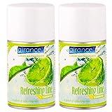 Airance Room Freshner Spray Refill / Air Freshner / Perfume Spray / Fragrance Aroma Room Freshner Refill - Air Freshner Refreshing Lime - 250 ML - Pack of Two Air Room Freshners