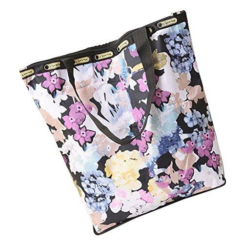Segeltuch Blumen R Segeltuch Tasche gedruckte Große Einkaufstaschen JERFER Strand Kapazitäts vEq7dqS