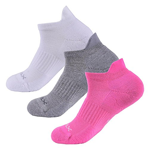 f65ac2257484b SOLAX 3 Pairs Women COOLMAX® Athletic Trainer Liner Socks,  Breathable,Absorb Shock Cushion,Non Slip, Outdoor Sports Running Walking  Climbing (ASST4)