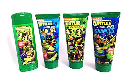 teenage-mutant-ninja-turtles-bubble-bath-conditioning-shampoo-body-wash-and-hair-gel-shower-set-by-n