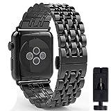 VIKATECH Für Watch Armband 42mm 44mm, Edelstahl Replacement Wrist Strap Uhrenarmband Schlaufe Smart...