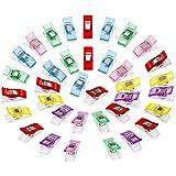 Anpro 100PCS Clips Pinces DIY Pince 2.7*1.0*1.5cm En ABS Pour Reliure Couture Artisanat 6 Couleurs Rose ,Rouge ,Bleu ,Jaune ,Violet ,Vert