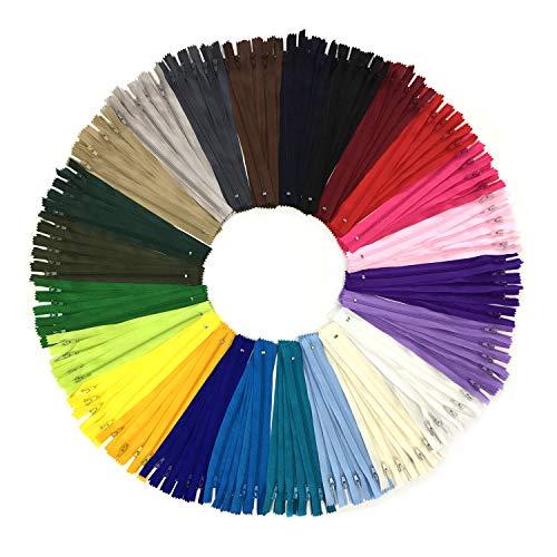 Cerniere a spirale in nylon multicolore wartoon 120pcs 23cm / 9 pollici per cucito e artigianato 24 colori