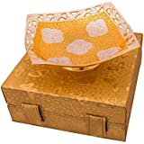 [Sponsored Products]Jaipur Ace Silver And Gold Plated Square Shaped Bowl