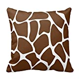 Bags-Online Giraffe Print in Dark Brown for Couch Throw Pillow Cover, 20 by 20 inch