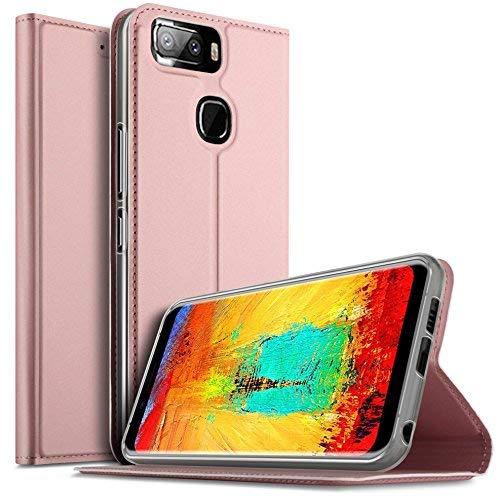 iBetter Leagoo S8 Pro Hülle, Leagoo S8 Pro Flip Bookstyle Kompletter Hüllen Mit Magnetverschluss und Standfunktion Tasche Etui Hüllen Schutzhülle für Leagoo S8 Pro Smartphone (Rose Gold)