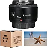 Yongnuo YN 50mm F/1.8 AF/MF Large Aperture Auto Focus Lens for Canon EF Mount EOS Camer