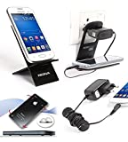 Riona Mobile holder A2 Black + Hanger Stand + Cable Organizer + Scratch Guard... A2B-C best price on Amazon @ Rs. 325